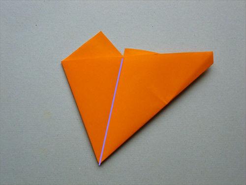 すべての折り紙 折り紙 箱 正方形 : 正方形の折り紙から五角形を ...