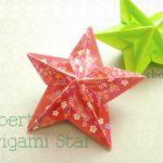 【クリスマス】折り紙5枚で作る厚みのある立体的な星