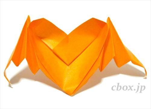 クリスマス 折り紙 折り紙コウモリの作り方 : cbox.jp