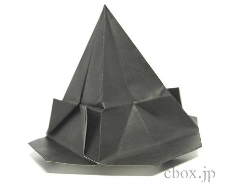 ハート 折り紙 魔女の帽子 折り紙 : cbox.jp