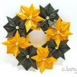 【ハロウィン】折り紙8枚で作るハロウィンのリース