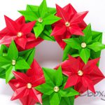 【クリスマス】折り紙8枚で作るクリスマスのリース