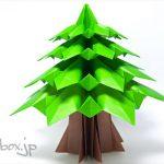 【クリスマスの折り紙】おとぎ話が似合うクリスマスツリー