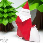【クリスマスの折り紙】立体的なサンタクロース by Giang Dinh