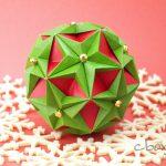 【折り紙】クリスマスカラーのくす玉 by Tomoko Fuse