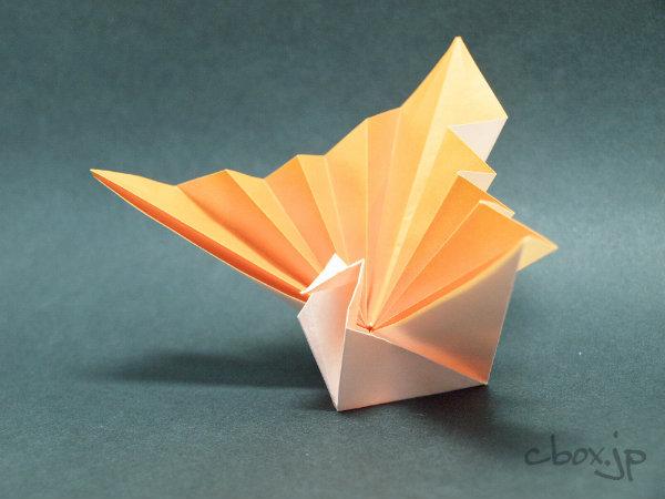 すべての折り紙 鶴の折り紙 : 折り紙】鶴の扇 | 大人の折り紙 ...