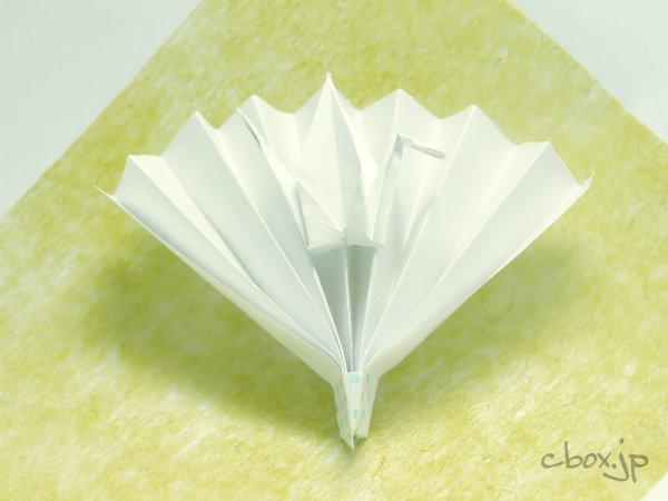 すべての折り紙 折り紙で花を作る : 折り紙】鶴の扇 | 大人の折り紙 ...
