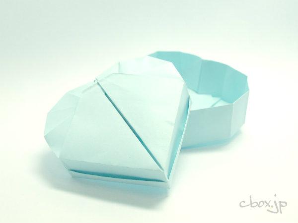 折り方 a4 箱 折り方 : の折り紙】ハート型の箱 ...