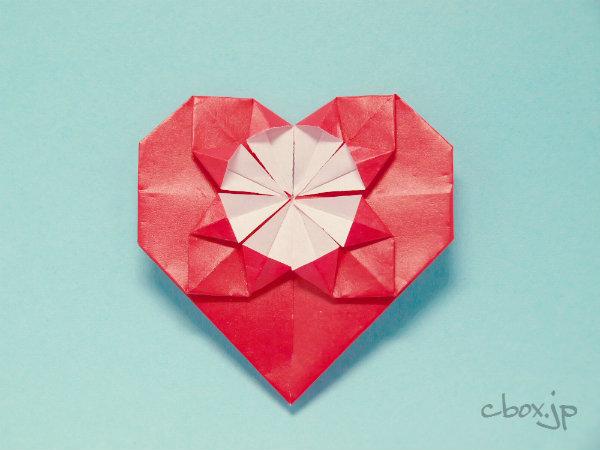 簡単 折り紙 折り紙でハートの作り方 : cbox.jp