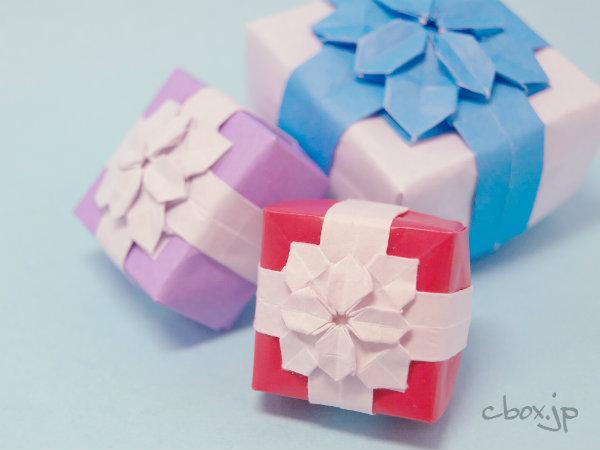... 紫陽花とリボンをあしらった箱 : 節分 箱 : すべての講義