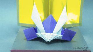 動物の折り紙 手乗りふくろう 大人の折り紙インテリア
