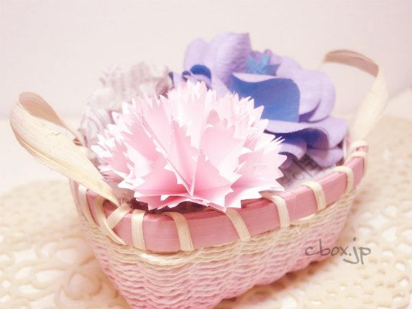 ハート 折り紙 : 折り紙 花 カーネーション : cbox.jp