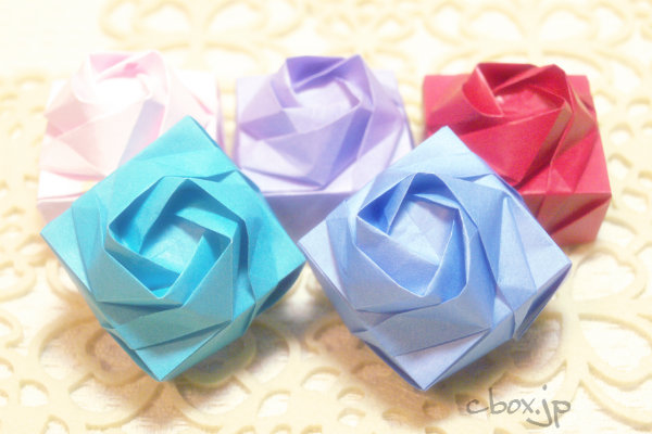 簡単 折り紙:折り紙 ボックス-handful.jp