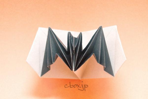 すべての折り紙 コウモリ 折り紙 折り方 : ハロウィンの折り紙】コウモリ ...