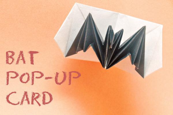 【ハロウィンの折り紙】コウモリの飛び出すカード