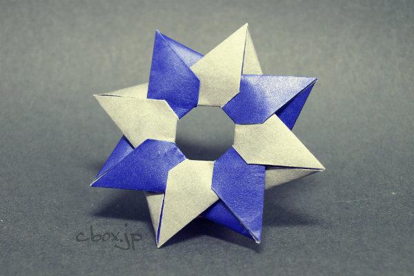 ハート 折り紙 折り紙で手裏剣 : cbox.jp
