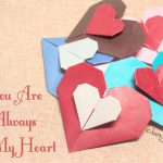 【バレンタインの折り紙】二重になったハート