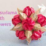 【折り紙】バラの花咲くくす玉