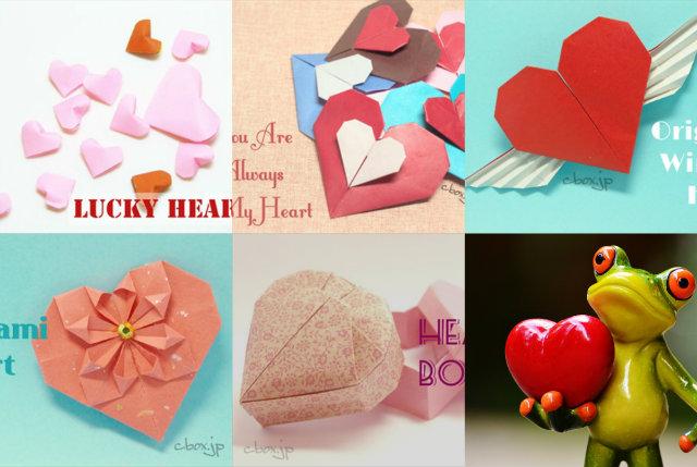バレンタインに大活躍!ハートの折り紙の折り方まとめ