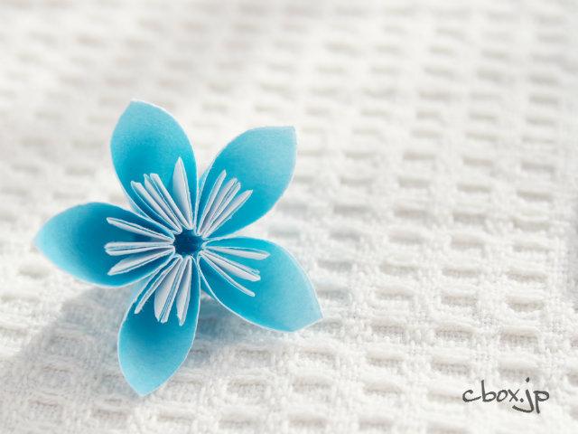 折り紙 リース 花