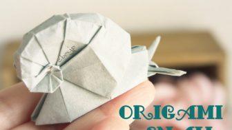 【折り紙】本物そっくり!立体的なカタツムリ