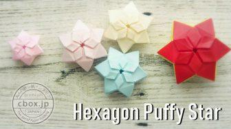 【折り紙】六角形のふっくら立体的な星
