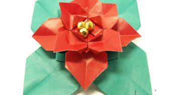 【クリスマスの折り紙】ポインセチア