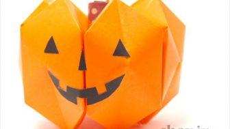 【ハロウィンの折り紙】紙風船7個で作るハロウィンの立体カボチャ
