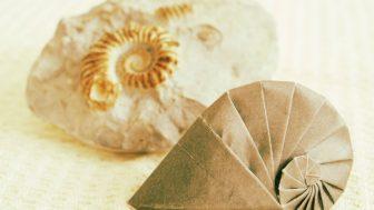 【折り紙】巻き貝