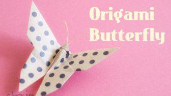 【折り紙】簡単なのに本物みたいな蝶(ちょうちょ)