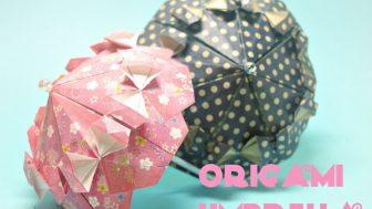 【折り紙】フリフリの傘
