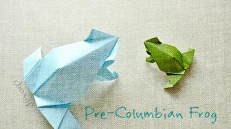 【動物の折り紙】すっきりシンプルなカエルの折り紙 by Leyla Tores